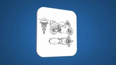 Bike - Transition Blueprint - blue 01 Stock Footage
