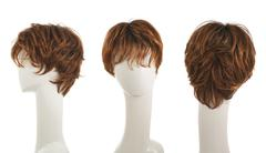 Hair wig over the mannequin head - stock photo