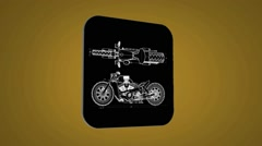 Detail bike - Transition Blueprint - yellow 02 Stock Footage