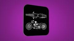 Detail bike - Transition Blueprint - purple 02 Stock Footage