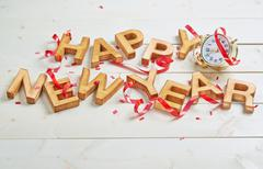 Happy New Year composition - stock photo