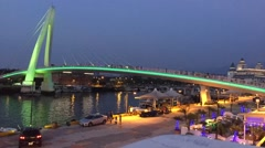 Lover Bridge of Tamsui in New Taipei City, Taiwan at sunset Stock Footage