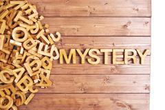 Word mystery made with wooden letters - stock photo