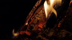 fire in the fireplace - stock footage