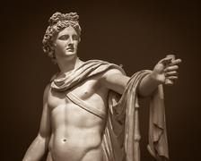Apollo Belvedere statue - stock photo