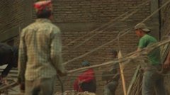 Nepal 1 Year After the Earthquake. Rebuilding Nepal 4K - stock footage