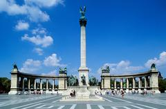 Heroes square budapest Stock Photos
