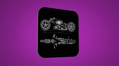Motorbike - Transition Blueprint - purple 02 Stock Footage