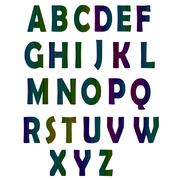 Neon Glow Alphabet Stock Illustration