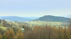 Landscape of Bieszczady Mountains Stock Footage