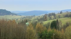 Beautiful hills of Bieszczady Mountains. Stock Footage