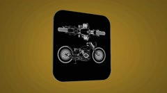 Vector Map intro - Old bike - Transition Blueprint - yellow 02 - stock footage