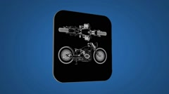 Vector Map intro - Old bike - Transition Blueprint - blue 02 - stock footage