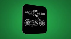 Vector Map intro - Old bike - Transition Blueprint - green 02 Stock Footage