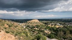 Los Angeles Stoney Point Rain Storm Time Lapse with Zoom In Stock Footage