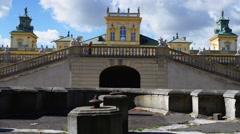 Wilanow Palace, Warsaw, Poland Stock Footage