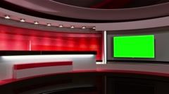 Studio. Background for any green screen or chroma key video production Stock Footage