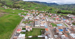 A Small Ecuadorian Village near Ingapirca Stock Footage