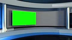 Studio. Background for any green screen or chroma key video production - stock footage