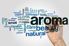 Aroma word cloud concept - stock photo