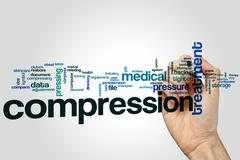 Compression word cloud Stock Photos