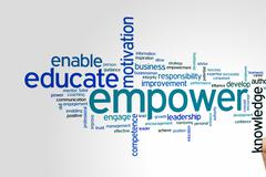 Empower word cloud Stock Photos