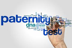 Paternity test word cloud Stock Photos