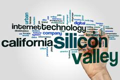 Silicon valley word cloud - stock photo