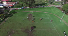 American Football in Ecuador Stock Footage