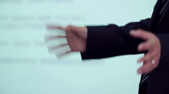 Hands gesture on business meeting Stock Footage