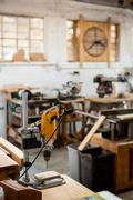 Tools and equipment used for carpentry - stock photo