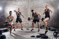 high intensity training workout - stock photo