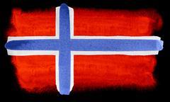 Norway flag illustration - stock photo