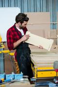 Carpenter working on his craft Stock Photos