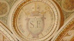 Close Up Crest of  San Felice monastery in Pavia, PV, ITALY Stock Footage