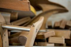 Zoom of piece of wood - stock photo
