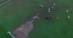 Point of Interest over a Football field in Ecuador Stock Footage