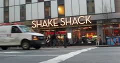 Stock Video Footage of Shake Shack in Times Square New York 4k Stock Video