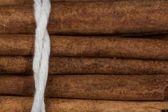 Close Up view of CInnamon Stick Bundle Stock Photos