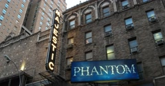 Majestic Theater Broadway New York 4k Stock Video Stock Footage