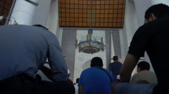 Muslim Men praying in a Mosque Stock Footage