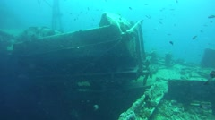 "Wagon on shipwreck ""SS Thistlegorm"", Red sea, Egypt Stock Footage"