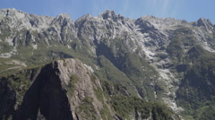 Mountains in Fiordland National Park Stock Footage