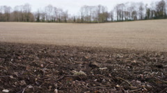 Low angle shot of tilled earth Stock Footage