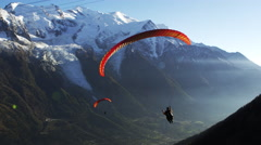 Paraglider French Alps Mont Blanc Chamonix, France 5K HD Stock Video Footage Stock Footage