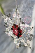 Star shape christmas decoration - stock photo