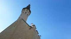 TALLIN, ESTONIA, MARCH 26 Lots of people at the old town market, in tallinn,  Stock Footage