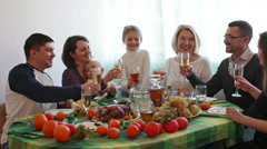 Portrait of relatives celebrating family event - stock footage