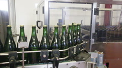 Shot with sparkling wine bottles Stock Footage