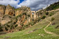 Ronda Rock Andalucia Landscape in Spain Stock Photos